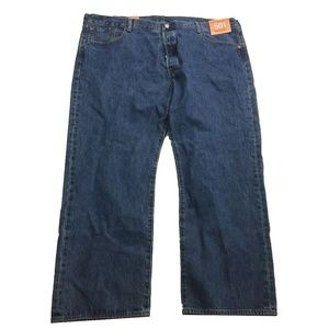 NWT Levi's 501 Straight Leg Button Fly Jeans 46x30